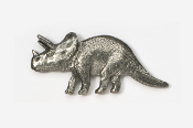 #623 - Triceratops Antiqued Pewter Pin