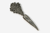 #682 - Carrot Antiqued Pewter Pin