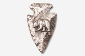 #702B - Arrowhead & Bear Antiqued Pewter Pin