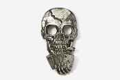 #804 - Poker Playing Skull / Royal Flush Antiqued Pewter Pin