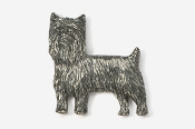 #850A - Pet Clip Yorkie Antiqued Pewter Pin