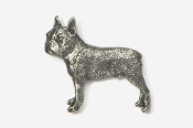 #852 - Boston Terrier Antiqued Pewter Pin