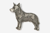 #858 - Australian Cattle Dog / Blue Heeler Antiqued Pewter Pin