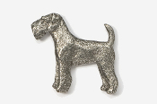 #859 - Airedale Antiqued Pewter Pin