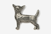 #860 - Smooth Chihuahua Antiqued Pewter Pin