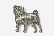 #861 - Pug Antiqued Pewter Pin