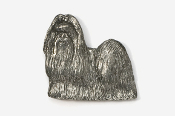 #862 - Show Clip Shih Tzu Antiqued Pewter Pin