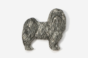 #865A - Pet Clip Maltese Antiqued Pewter Pin