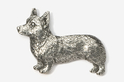 #866 - Pembroke Corgi Antiqued Pewter Pin