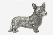 #866A - Cardigan Welsh Corgi Antiqued Pewter Pin