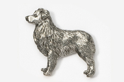 #867 - Australian Shepherd Antiqued Pewter Pin