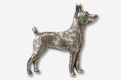 #877C - Rat Terrier Antiqued Pewter Pin