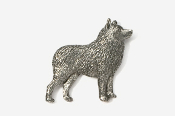 #878 - Schipperke Antiqued Pewter Pin