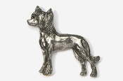 #880 - Chinese Crested Antiqued Pewter Pin