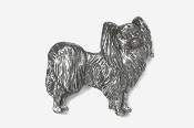 #881 - Papillon Antiqued Pewter Pin