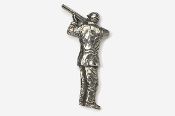#902 - Shooter / Bird Hunter Antiqued Pewter Pin