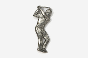 #904 - Golfer Antiqued Pewter Pin