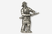 #915 - Fireman Antiqued Pewter Pin