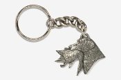 #K450C - Labrador Retriever with Duck Antiqued Pewter Keychain