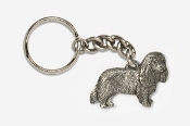 #K455C - Cavalier King Charles Antiqued Pewter Keychain