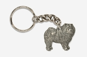 #K464 - Chow Antiqued Pewter Keychain