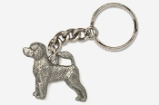 #K864 - Portuguese Water Dog Antiqued Pewter Keychain