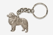 #K872A - Great Pyrenees Antiqued Pewter Keychain