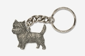 #K877 - Cairn Terrier Antiqued Pewter Keychain