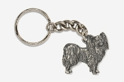 #K881 - Papillon Antiqued Pewter Keychain