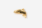 #TT122AG - Jumping Atlantic Salmon 24K Plated Tie Tac