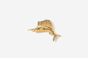 #TT201G - Sailfish 24K Plated Tie Tac