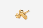 #TT308G - Flying Turkey 24K Plated Tie Tac