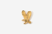 #TT333G - Left Flying Eagle 24K Plated Tie Tac