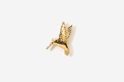 #TT350G - Left Flying Hummingbird 24K Plated Tie Tac