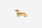 #TT462G - Smooth Dachshund 24K Plated Tie Tac