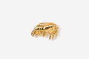 #TT532G - Shrimp 24K Plated Tie Tac