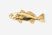 #211G - Weakfish 24K Gold Plated Pin