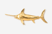#217G - Swordfish 24K Gold Plated Pin