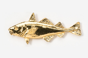 #221AG - Haddock 24K Gold Plated Pin