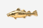 #221G - Cod 24K Gold Plated Pin