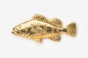 #225G - Grouper 24K Gold Plated Pin