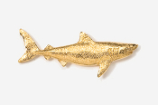 #250G - Great White Shark 24K Gold Plated Pin