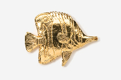 #271G - Butterfly Fish 24K Gold Plated Pin