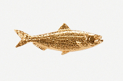 #287G - Herring 24K Gold Plated Pin