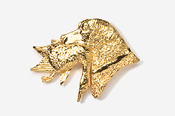 #450CG - Labrador Retriever with Duck 24K Gold Plated Pin