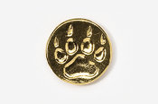 #450FG - Paw Print 24K Gold Plated Pin