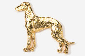 #453AG - Greyhound 24K Gold Plated Pin