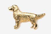 #454G - Golden Retriever 24K Gold Plated Pin