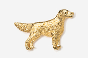 #457G - English Setter 24K Gold Plated Pin