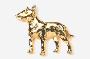 #460CG - Bull Terrier 24K Gold Plated Pin
